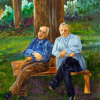 Old friends Painting by Dorothy Riley