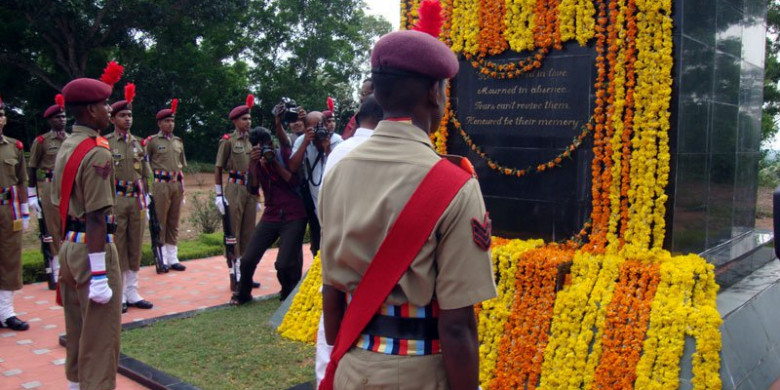 Laying the Wreath ceremony at the War Memorial