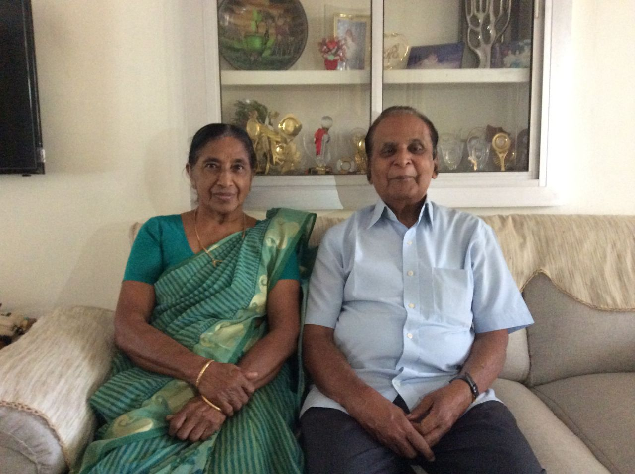 Mrs Mary Thomas and Mr NG Thomas, Teachers of Sainik School Kazhakootam